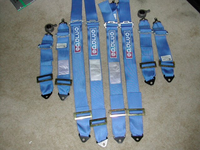 Sparco Racing Harness 4 Point Sparco Blue 4 Point Harnesses
